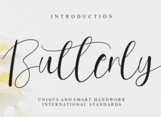 Butterly Calligraphy Font