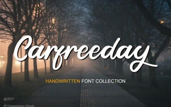 Carfreeday Calligraphy Font