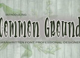 Common Ground Display Font