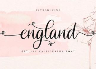 England Calligraphy Font