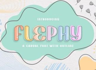 Flephy Display Font