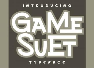 Game Suet Display Font