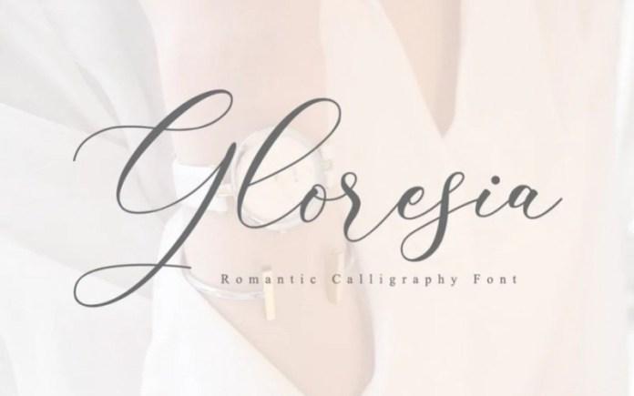 Gloresia Calligraphy Font