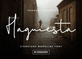 Haguiesta Handwritten Font