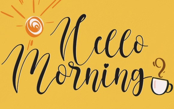 Hello Morning Calligraphy Font