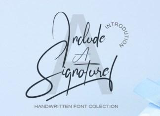 Include A Signature Script Font
