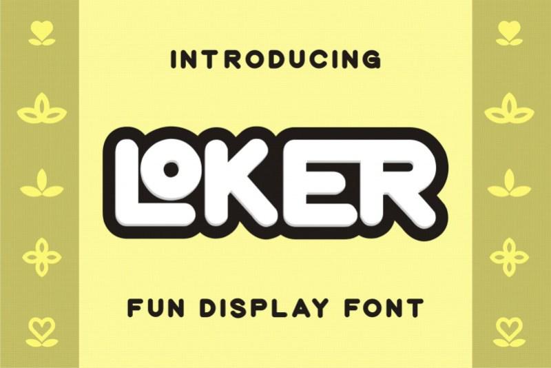 Loker Display Font