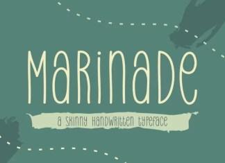 Marinade Display Font