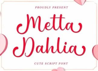 Metta Dahlia Script Font