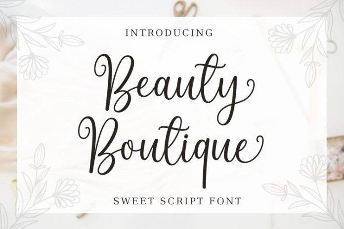 Beauty Boutique Calligraphy Font