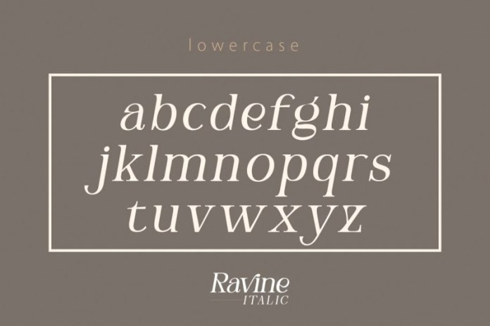 Ravine Serif Font