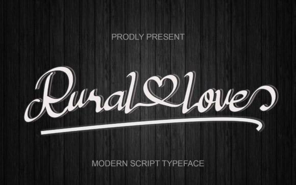 Rural Love Script Font