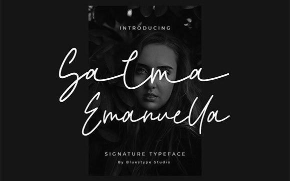 Salma Emanuella Handwritten Font