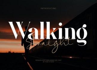 Walking Straight Font Duo