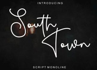 South Town Handwritten Font