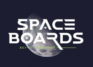 Space Boards Display Font