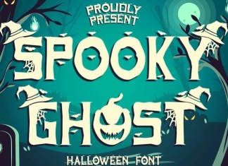 Spooky Ghost Display Font