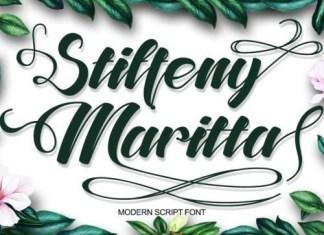 Steffeny Maritta Calligraphy Font