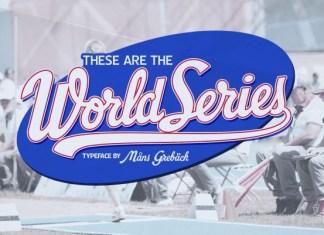 World Series Script Font