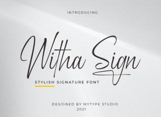 Witha Sign Script Font