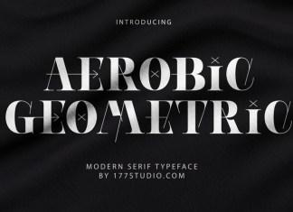AEROBIC GEOMETRIC Display Font