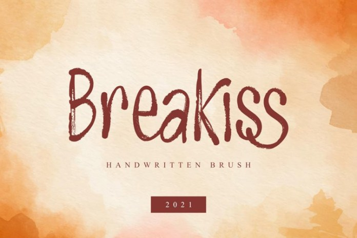 Breakiss Brush Font