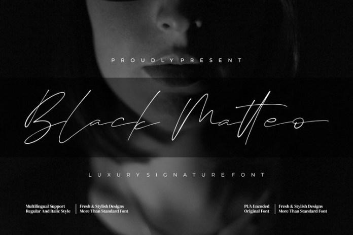 Black Matteo Handwritten Font