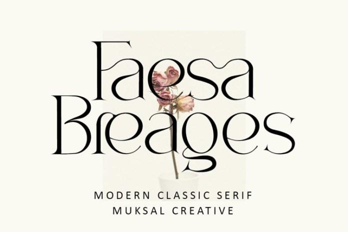 Faesa Breages Serif Font