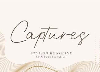 Captures Handwritten Font