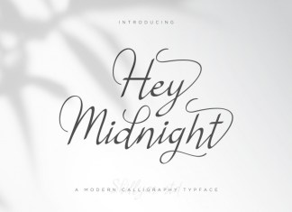 Hey Midnight Calligraphy Font