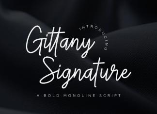 Gittany Handwritten Font