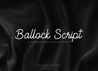 Ballock Handwritten Font