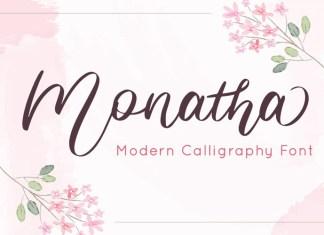 Monatha Script Font