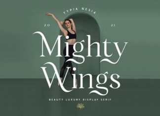 Mighty Wings Serif Font