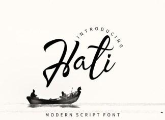 Hati Script Font