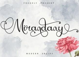 Mirandany Script Font