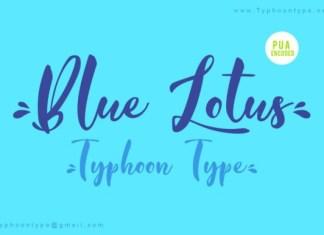 Blue Lotus Script Font