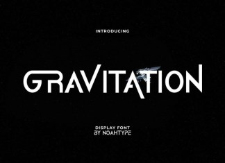 Gravitation Sans Serif Font