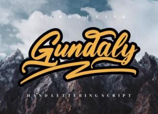 Gundaly Script Font