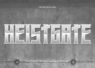 Heistgate Display Font