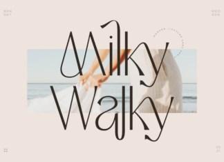 Milky Walky Sans Serif Font