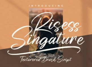 Risess Singature Script Font