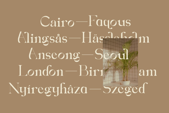 Sofiera Serif Font