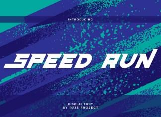 Speed Run Display Font