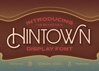 Hintown Display Font