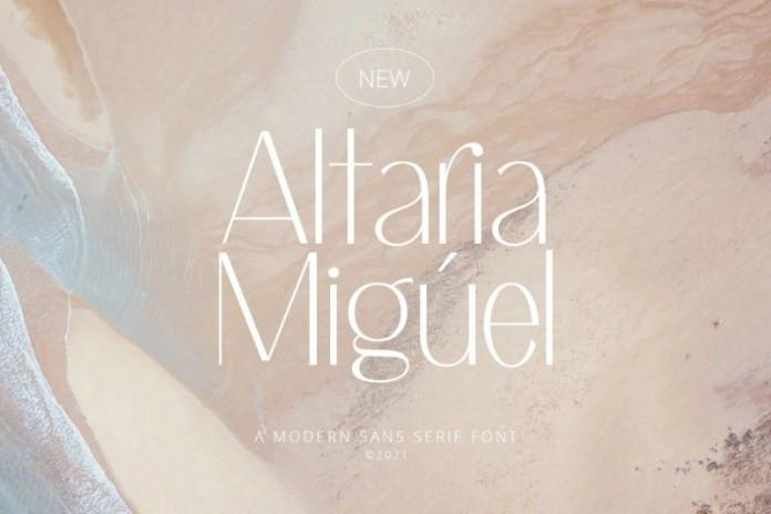 Altaria Miguel Sans Serif Font