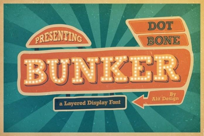 BUNKER Display Font