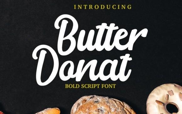 Butter Donat Script Font
