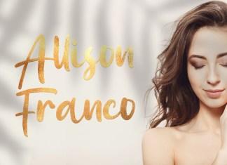 Allison Franco Script Font