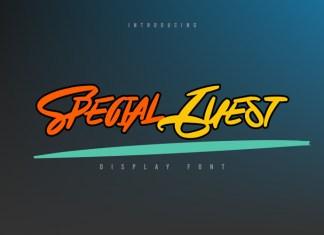 Special Guest Script Font